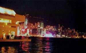Hong Kong Harbour lights